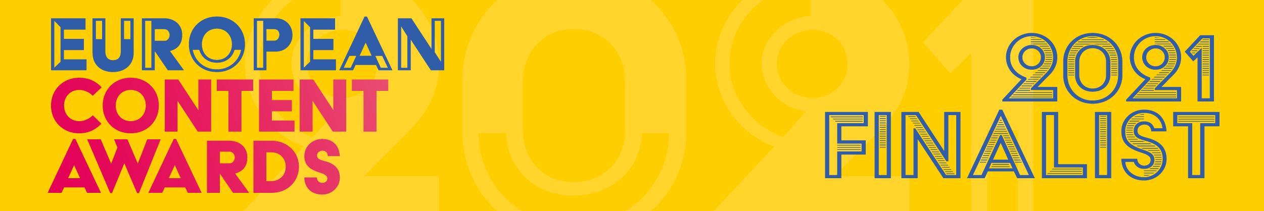 European Content Awards 2021 Finalist Banner